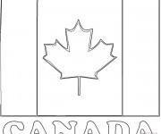 Coloriage et dessins gratuit Drapeau Canada stylisé à imprimer