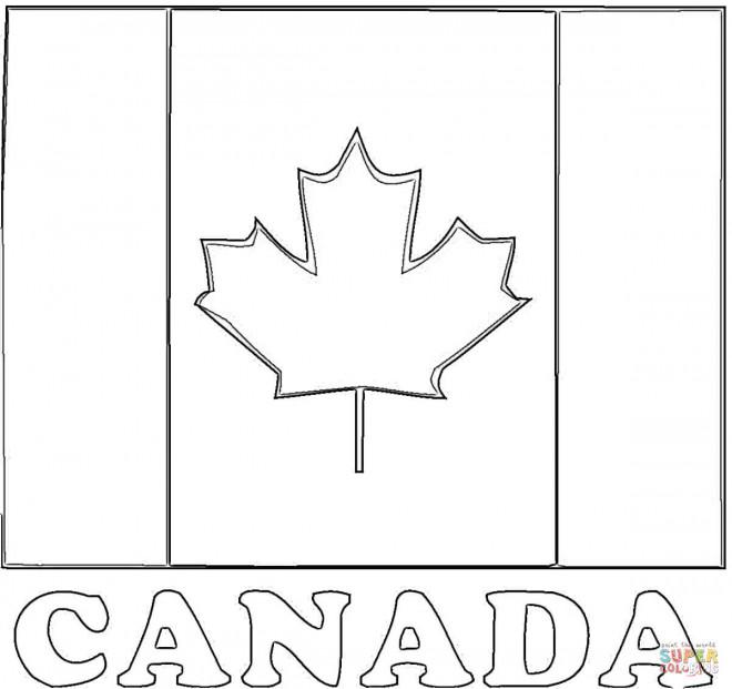 Coloriage et dessins gratuits Drapeau Canada stylisé à imprimer