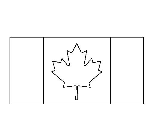 Coloriage et dessins gratuits Drapeau de Canada à découper à imprimer