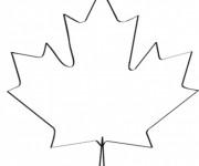 Coloriage canada gratuit imprimer liste 20 40 - Feuille erable dessin ...