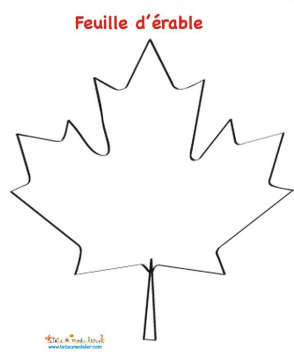 Coloriage et dessins gratuits Feuille d'érable Canada à imprimer