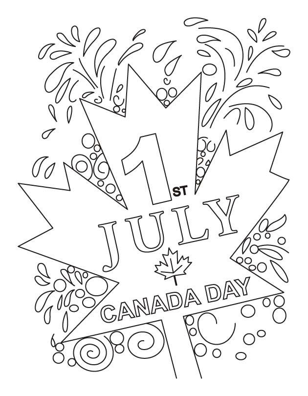 Coloriage et dessins gratuits La fête du Canada magique à imprimer
