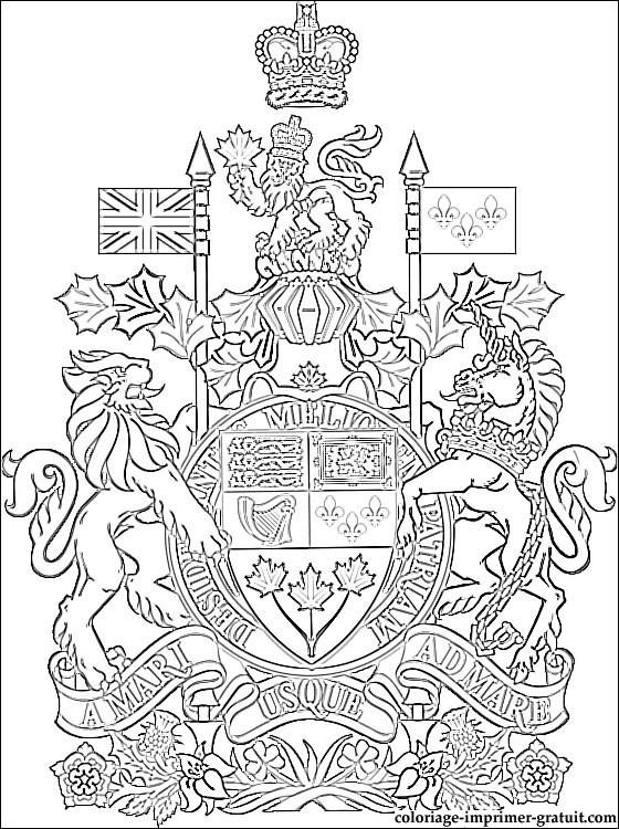 Coloriage et dessins gratuits La monarchie canadienne à imprimer