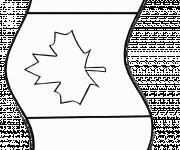 Coloriage et dessins gratuit Le Drapeau Canadien à imprimer