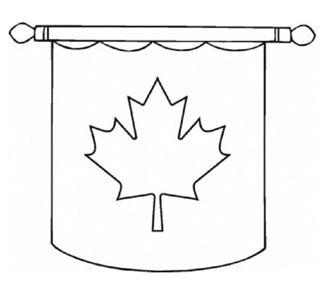 Coloriage et dessins gratuits Le Drapeau de Canada en rouge et blanc à imprimer