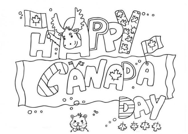 Coloriage et dessins gratuits Le Jour de Canada pour enfant à imprimer