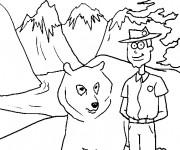 Coloriage et dessins gratuit Les montagnes de Canada à imprimer