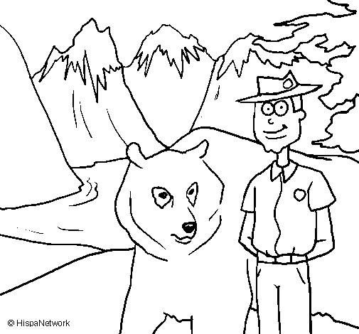 Coloriage et dessins gratuits Les montagnes de Canada à imprimer