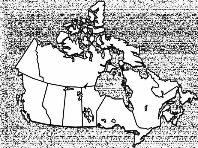 Coloriage et dessins gratuits Les Provinces de Canada à imprimer