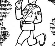 Coloriage Policier canadien