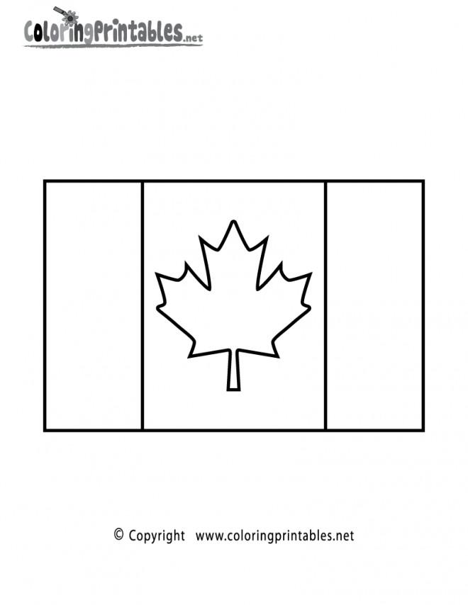 Coloriage et dessins gratuits Signification drapeau de Canada à imprimer