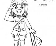 Coloriage et dessins gratuit Valérie La petite Canadienne à imprimer