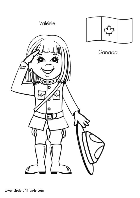 Coloriage et dessins gratuits Valérie La petite Canadienne à imprimer