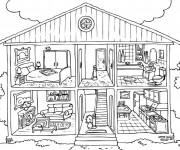 Coloriage dessin  Chambre 1