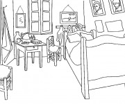 Coloriage dessin  Chambre 3