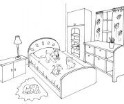 Coloriage dessin  Chambre 4