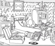 Coloriage dessin  Chambre 7