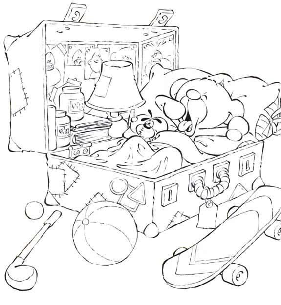 Coloriage et dessins gratuits Chambre de L'ours à imprimer