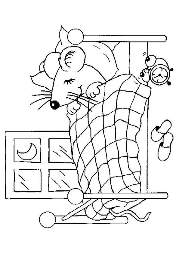 Coloriage et dessins gratuits Chambre de La Souris à imprimer