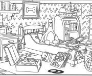 Coloriage Chambre de Pingouin