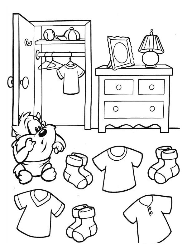 coloriage chambre du loup dessin anim dessin gratuit imprimer. Black Bedroom Furniture Sets. Home Design Ideas