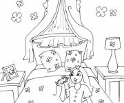 Coloriage et dessins gratuit Chambre Fille à imprimer