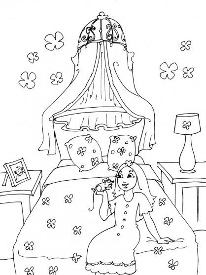 Coloriage et dessins gratuits Chambre Fille à imprimer