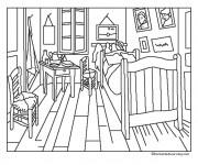 Coloriage Chambre maternelle