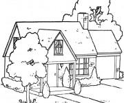 Coloriage Une Maison en bois
