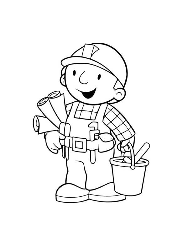 Coloriage et dessins gratuits Bob le petit Bricoleur à imprimer
