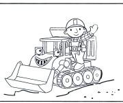 Coloriage Bulldozer 25