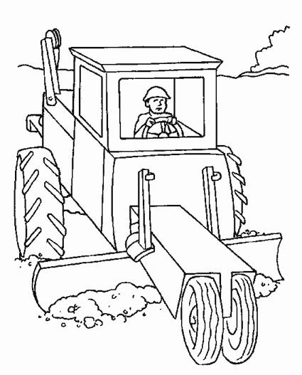 Coloriage et dessins gratuits Bulldozer Chantier pour adulte à imprimer
