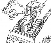 Coloriage et dessins gratuit Bulldozer couleur à imprimer