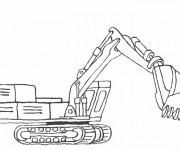 Coloriage Bulldozer pour travaux de construction
