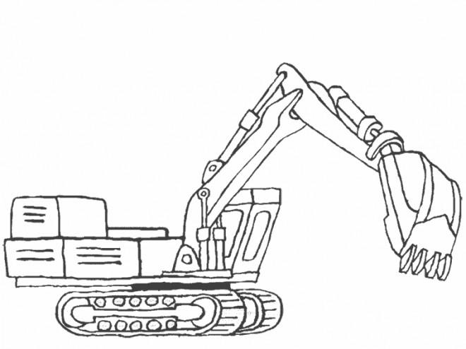 Coloriage et dessins gratuits Bulldozer pour travaux de construction à imprimer