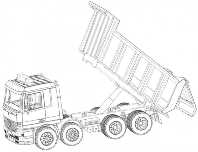 Coloriage et dessins gratuits Camion à Benne facile à imprimer