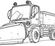 Coloriage et dessins gratuit Camion de Chantier à imprimer