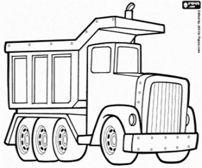 Coloriage et dessins gratuits Camion de Chantier vecteur à imprimer