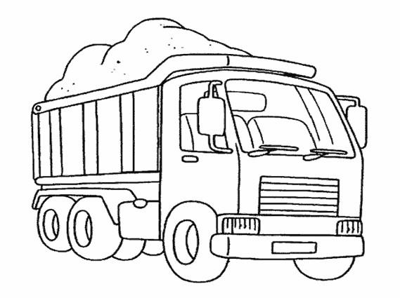 Coloriage et dessins gratuits Camion maternelle à imprimer