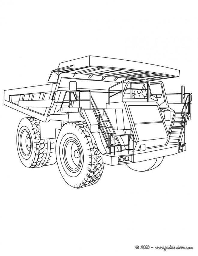 Coloriage et dessins gratuits Camion puissant de Chantier à imprimer