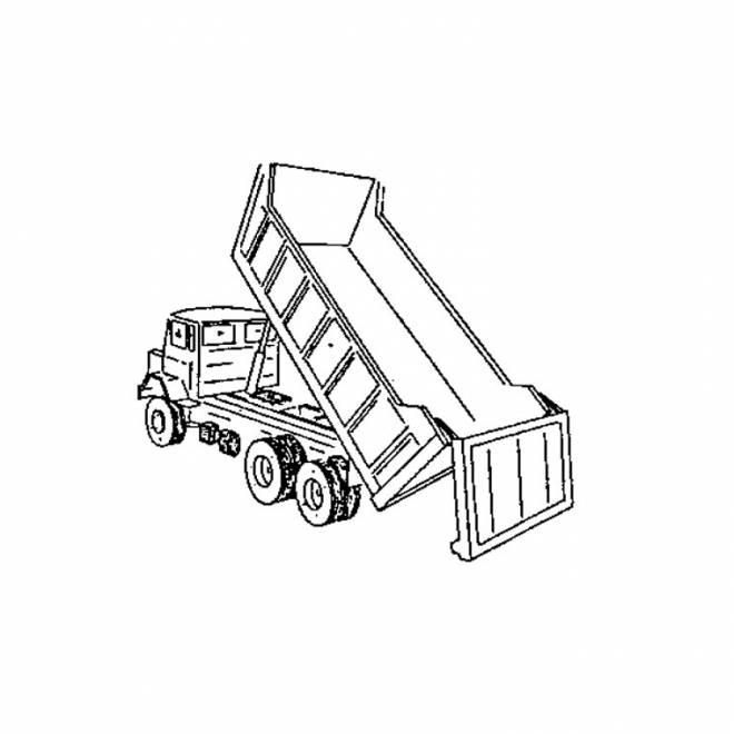 Coloriage et dessins gratuits Camion remorque et dumper à imprimer