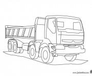 Coloriage et dessins gratuit Camion Volvo à imprimer