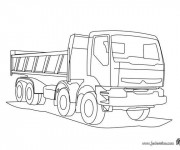 Coloriage Camion Volvo