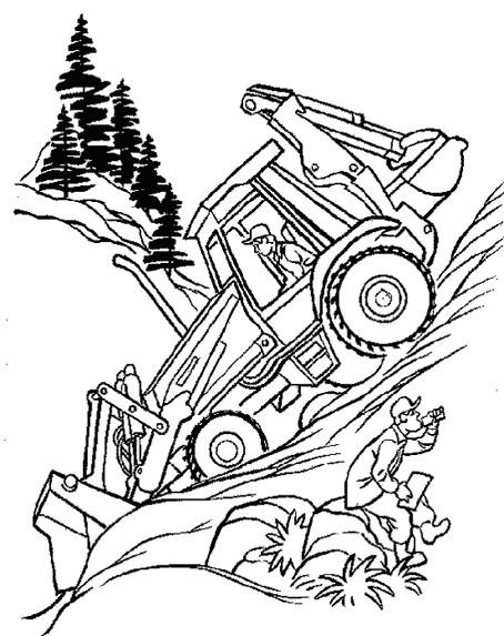Coloriage et dessins gratuits Chantier dans La Forêt à imprimer