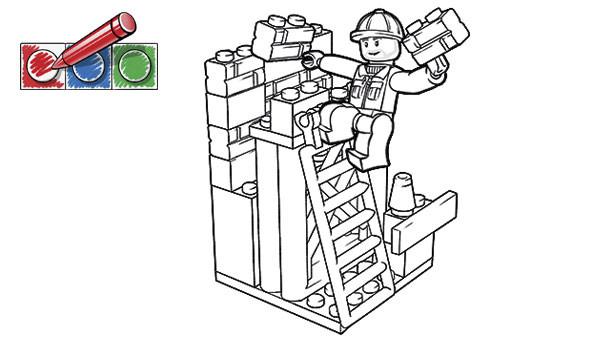 Coloriage et dessins gratuits Chantier de Lego City à imprimer