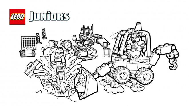 Coloriage et dessins gratuits Chantier de Légo Juniors à imprimer