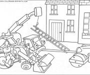 Coloriage et dessins gratuit Chantier dessin animé à imprimer