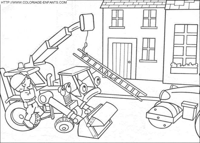 Coloriage et dessins gratuits Chantier dessin animé à imprimer