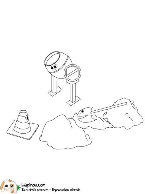 Coloriage et dessins gratuits Chantier en ligne à imprimer