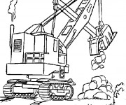 Coloriage Grue Chantier